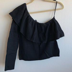 NWT Ella Moss One Shoulder Ruffle Sweater